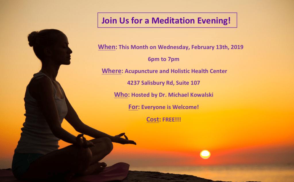 Free Meditation for Healing Evening - Wednesday, February 13, 2019