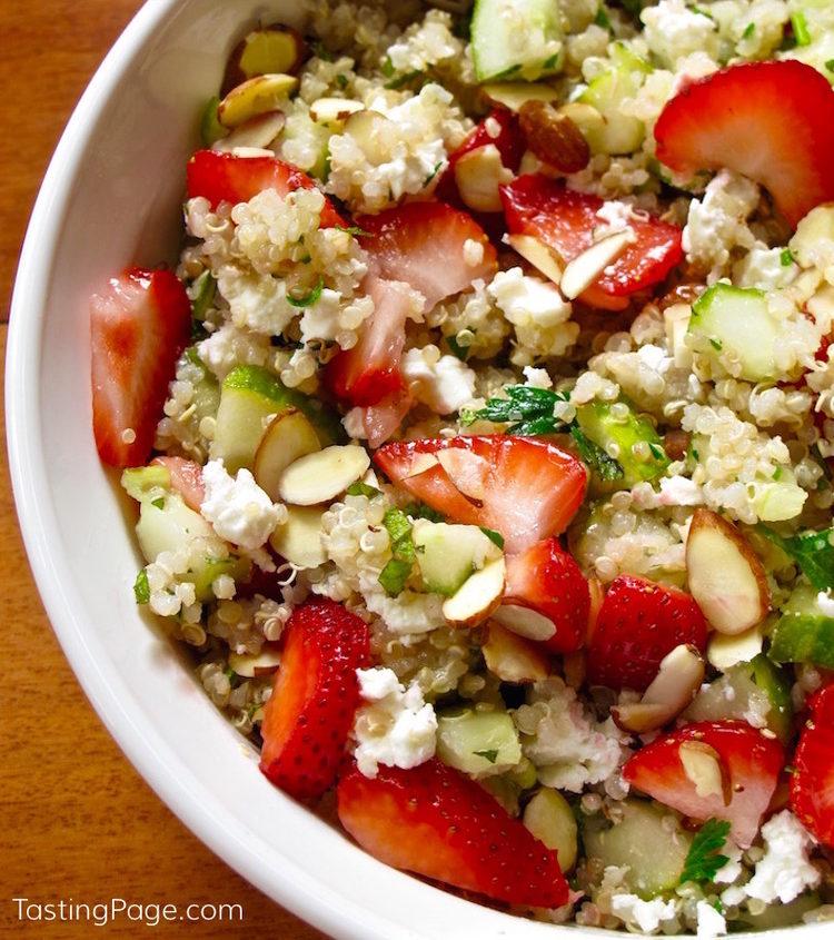 Strawberry and Mint Quinoa Salad