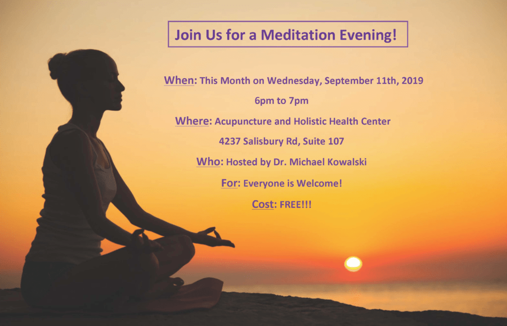 Wednesday, September 11th @ 6PM – Meditation For Healing Session