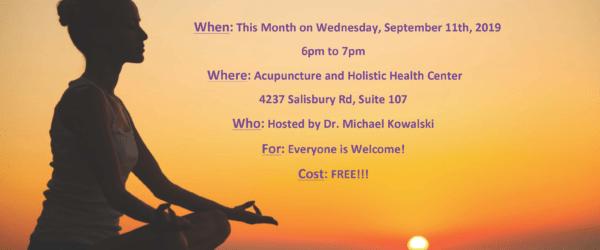 Meditation For Healing, Sept. 11, 6pm